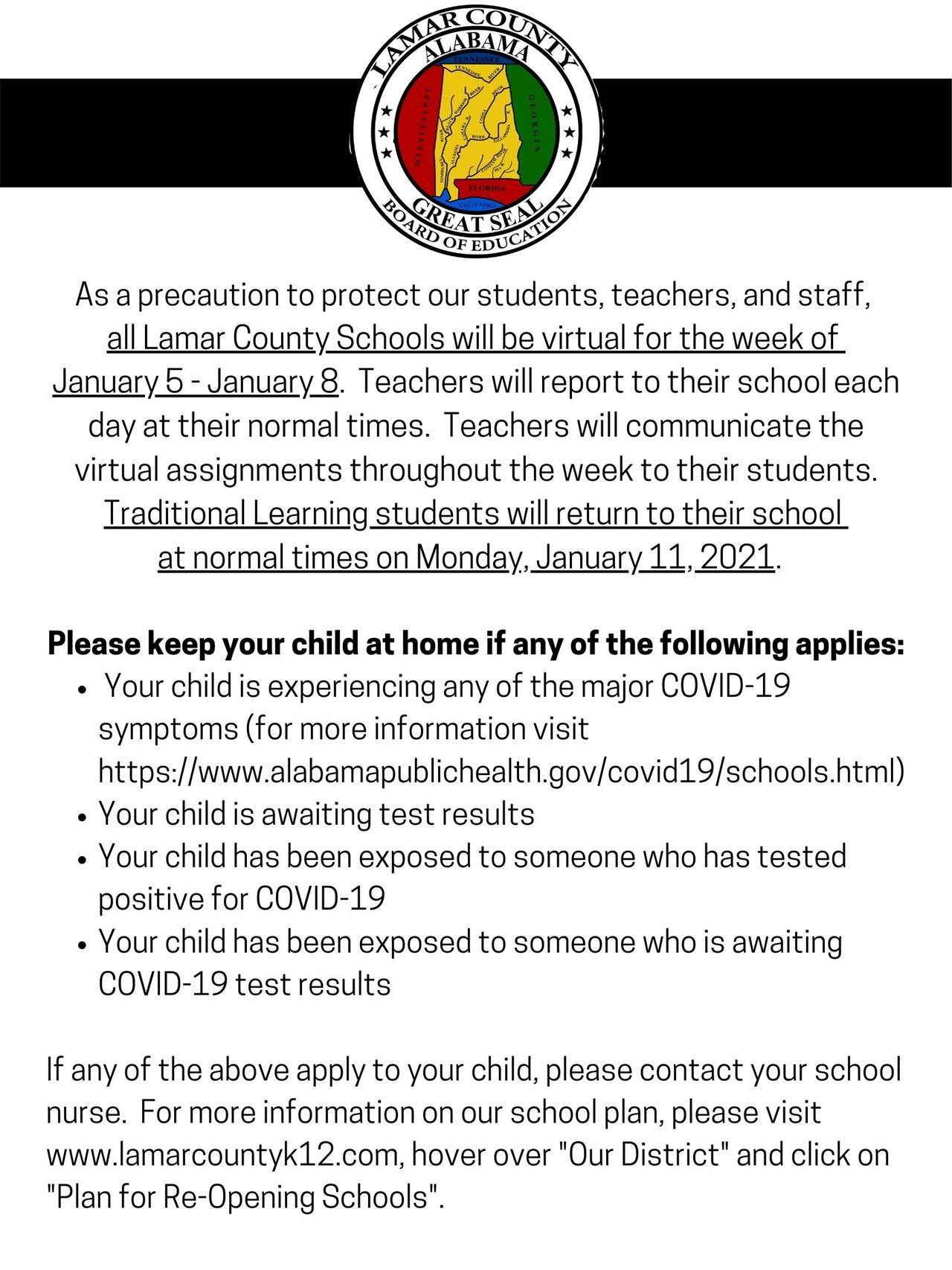 Lamar County Schools Virtual Week